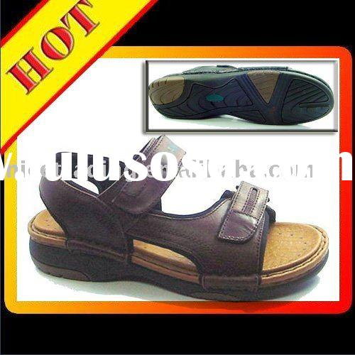 Casual Sandal Shoe, Men's Leather Shoe