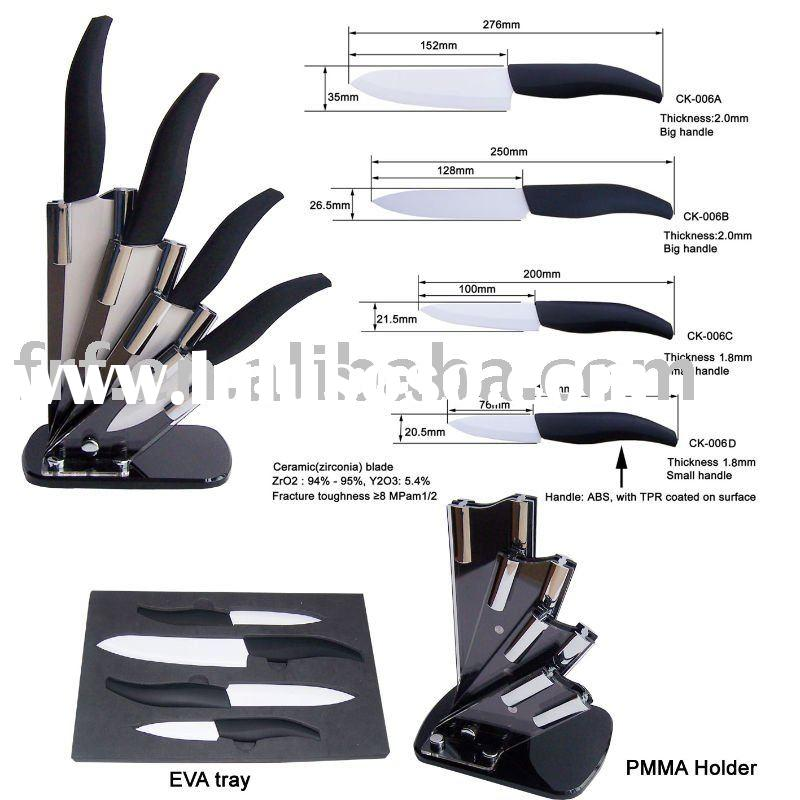 Ceramic knife set with PMMA(Acrylic) stand/holder