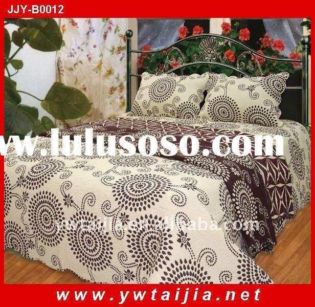 Cheap 100%polyester printed and colorful bedding set
