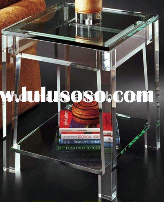 Clear Acrylic Lucite Plexiglass End Table;Acrylic Furniture;Acrylic Plexiglass Furniture;Acrylic Fur