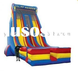Cliff hanger giant inflatable water slide