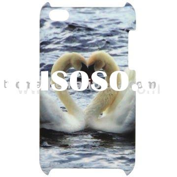 Close Swans Pattern Matte Hard Plastic Case for Apple iPod Touch4
