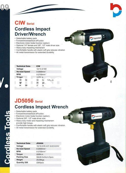 Cordless impact driver/wrench