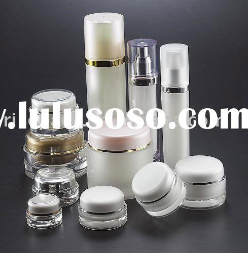 Cosmetic Acrylic Packaging Round Skincare Cream UV Nail Gel Screw Cap Containers Jars