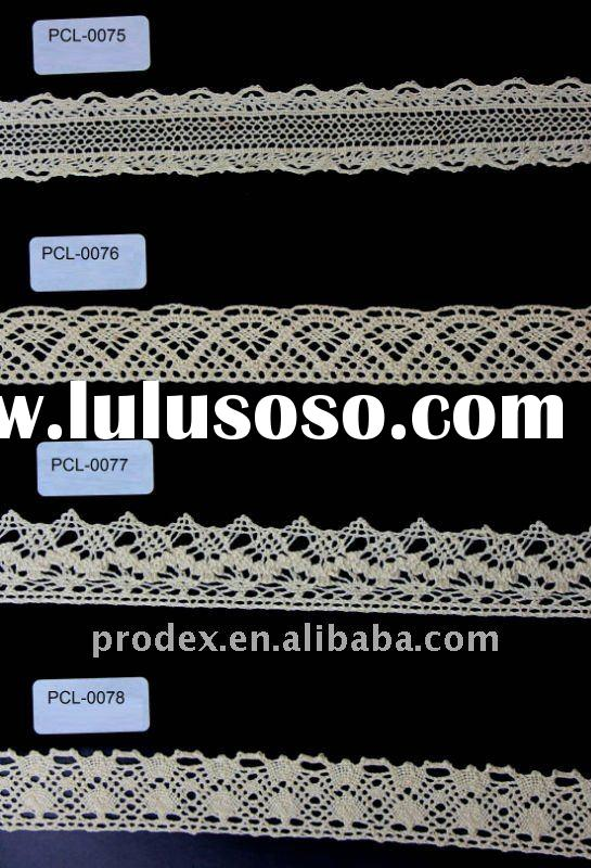 Cotton lace, lace material, lace trim, lace ribbon, embroidery lace,