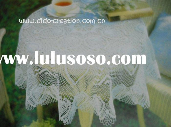 DD04004 Handmade Crochet Classic Table cloth Lace Round 100% cotton Doilies Cup Coaster Mat Tableclo