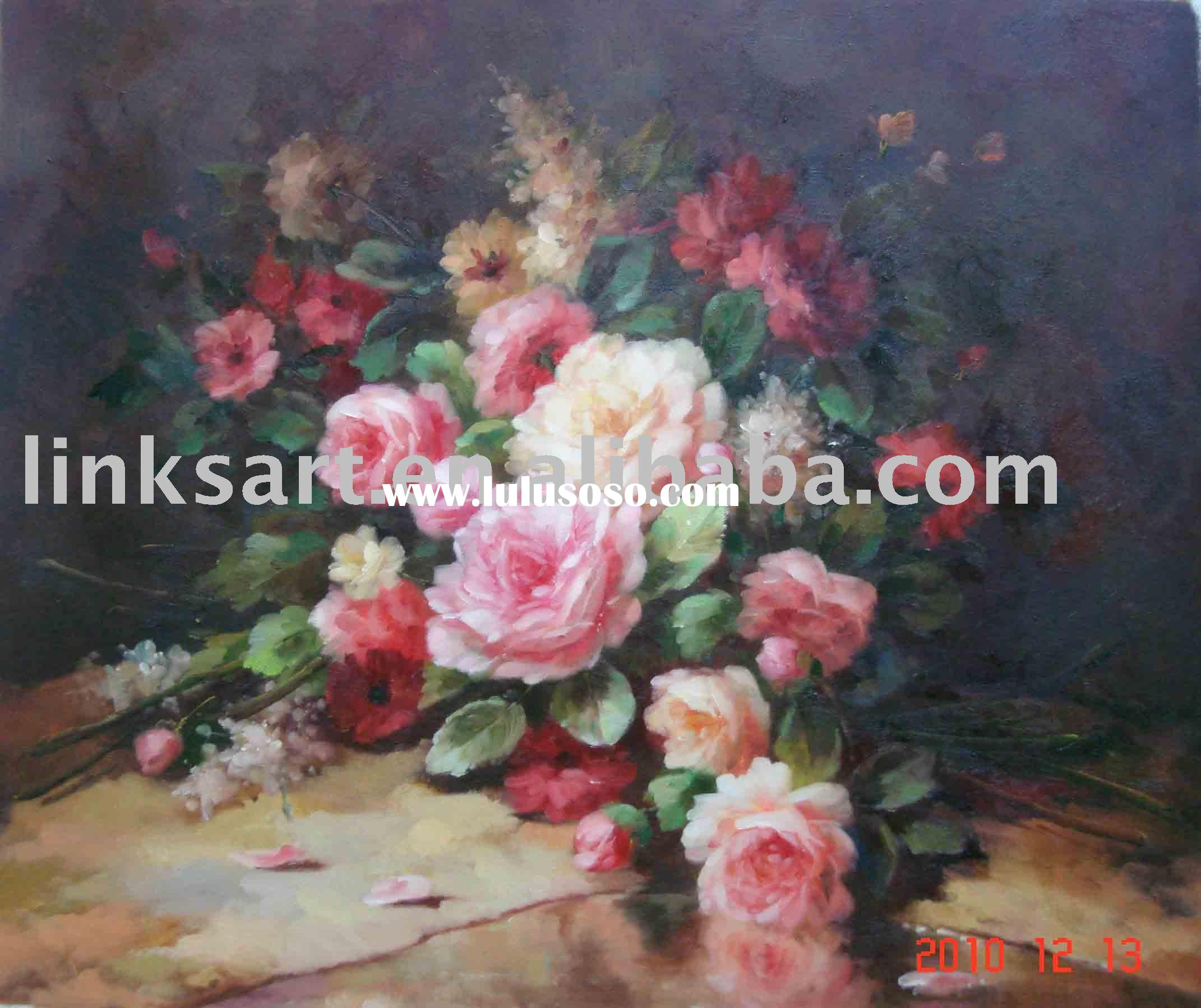 Decoration Flower Oil Painting-Classical Flower Painting