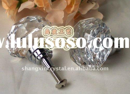 Decorative Glass Crystal Drawer Pulls and Crystal Door Knobs