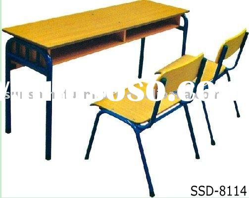 Double Student Desks Chair, Study Desk and Chair, School Desk, School Chairs