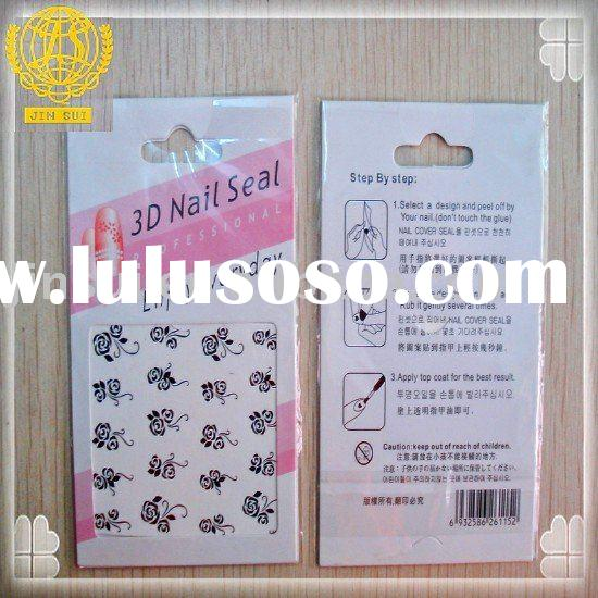 Fashion design cute glitter art 3D nail sticker