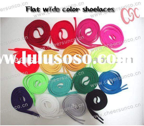 Neon Colored Shoe Laces Oval Round Flat Rainbow Rasta Skull Star Military