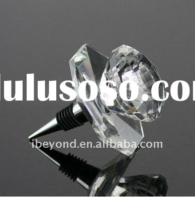 Flower Crystal Bottle Stopper for Wedding GIfts