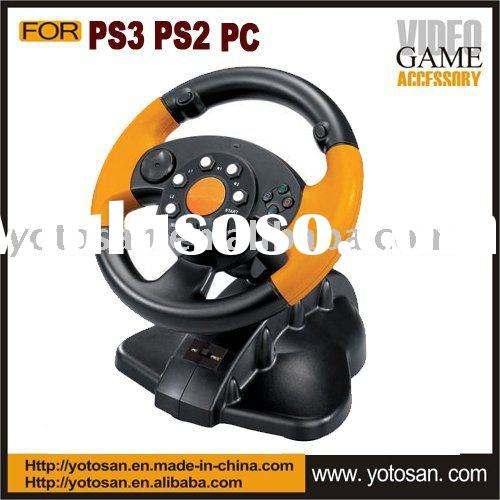 For PS3 PS2 PC 3 in 1 racing steering wheel