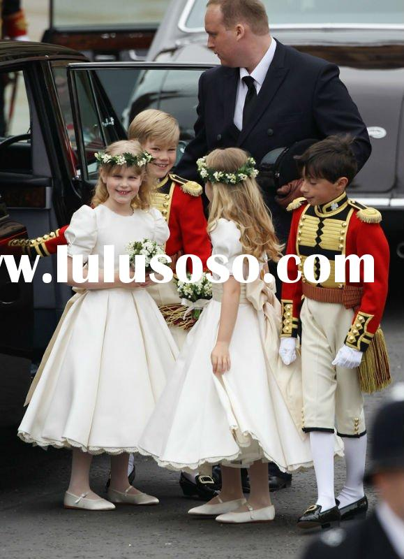 Free shipping Prince William and Kate's wedding flower girl dress