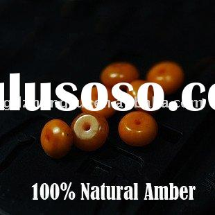 GDZR2519 Natural amber 6.2mm spacer beads