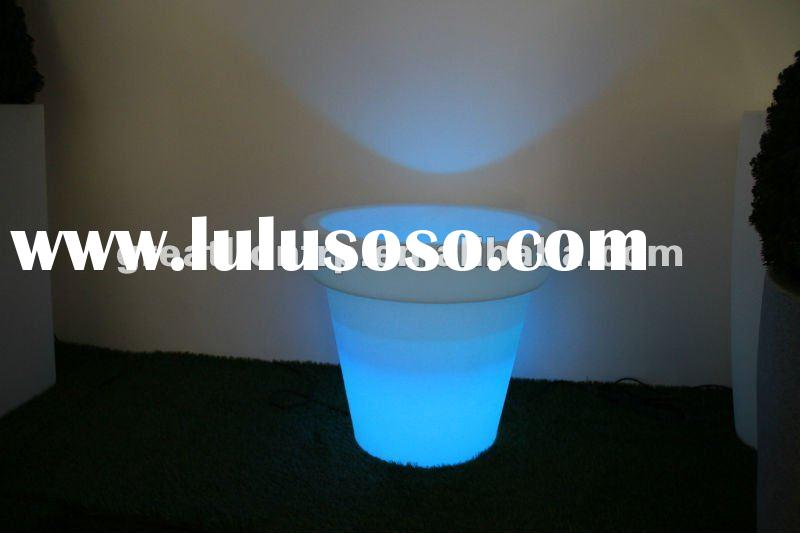GR02116 plastic flower pot with led light , large plastic planter