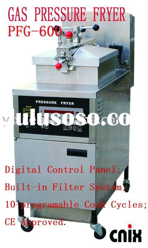 Gas Pressure Fryer(Manufacturer,CE)with Oil Pump and Filter