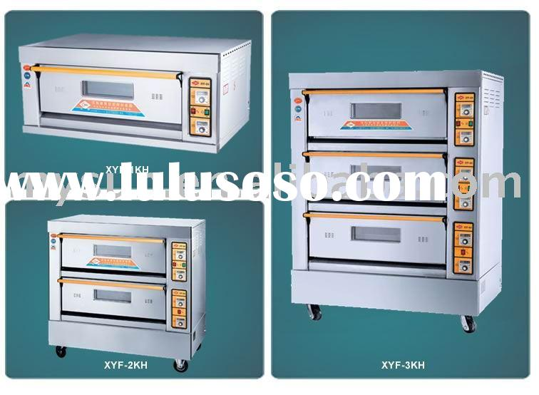 Gas operated deck oven