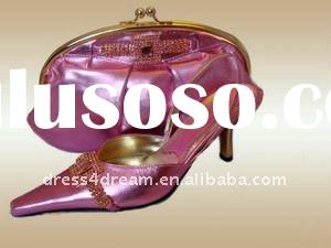 Genuine leather ladies italian shoes and bags to match