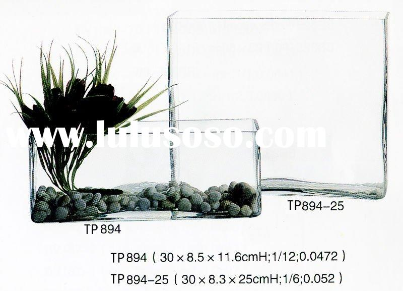 Large Rectangular Clear Glass Vase Glass Designs