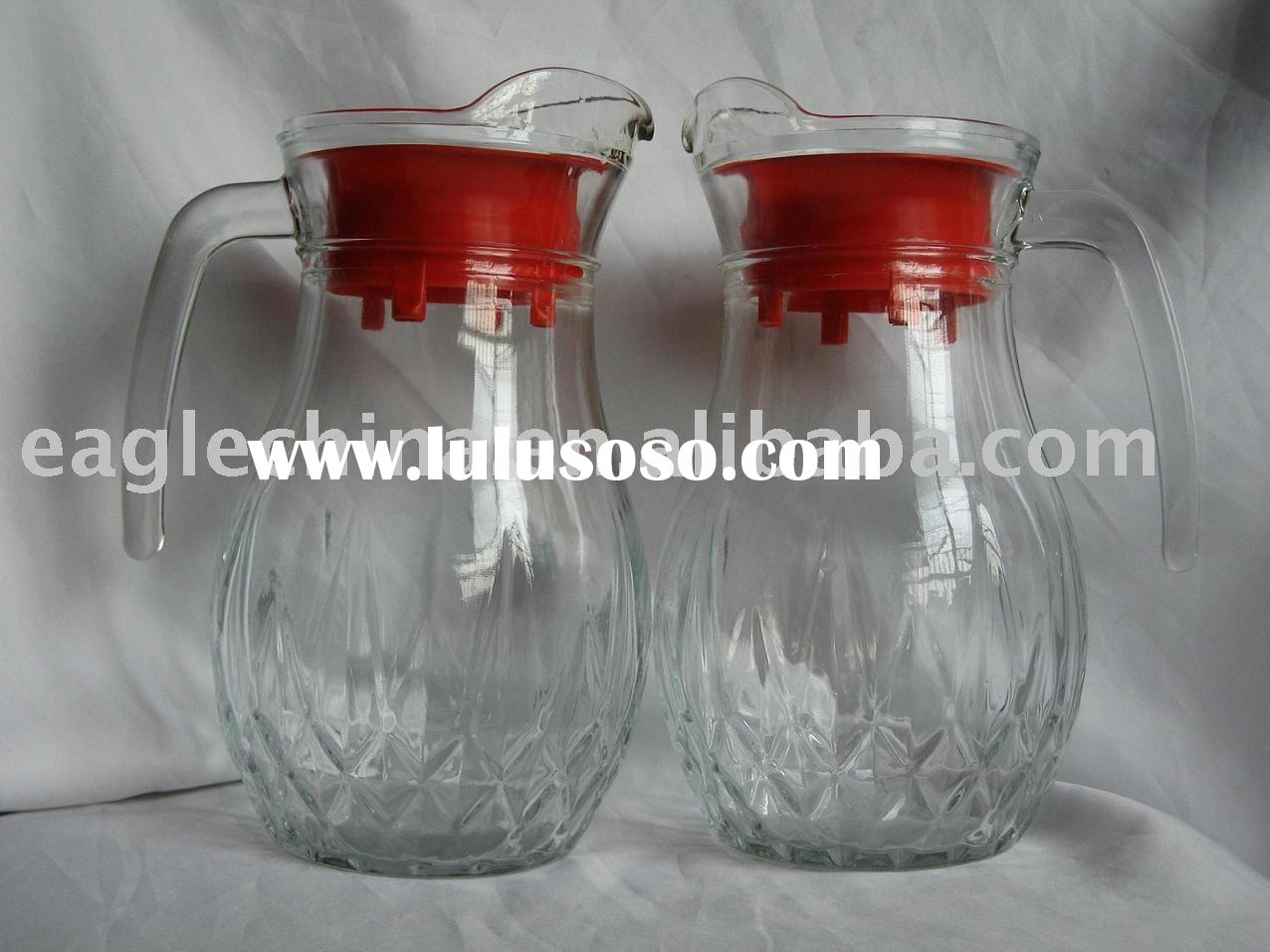Glass Pitcher, Drinking Glass Jug,