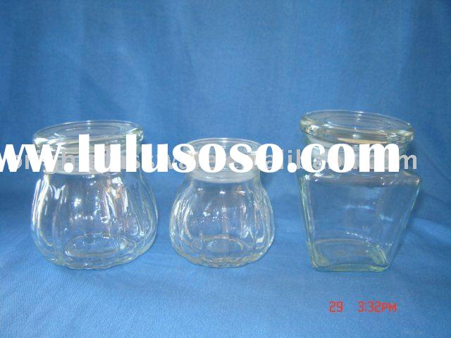 Glass bottle ,glass jar for candle wax candy sugar