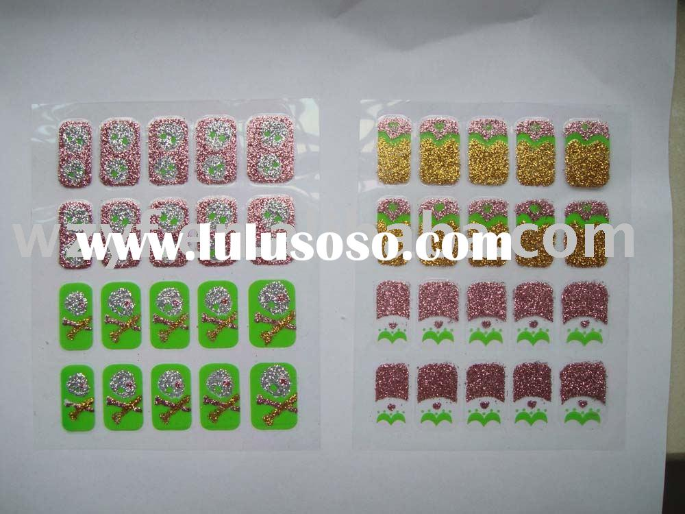 Glitter nail sticker/Finger nail polish sticker