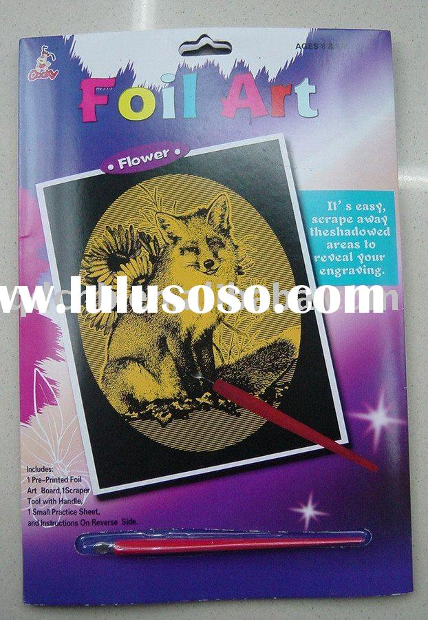 Gold Foil Art Fox