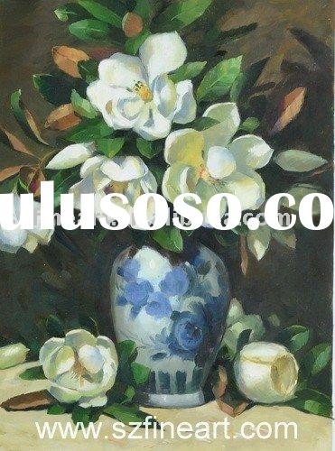 Good Priced New Design Handmade Oil Painting on Canvas of oil painting pictures of flowers