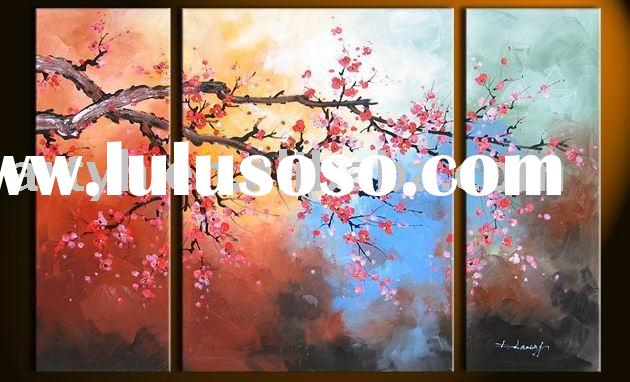 Group Flower Oil Paintings On Canvas, Hot Selling