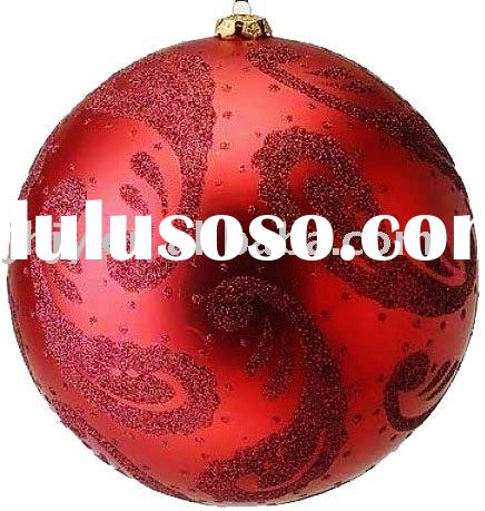 Hand Painted Blown Glass Christmas Bauble