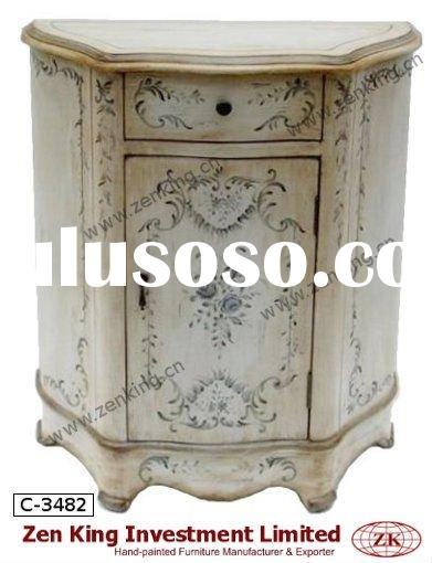Hand Painted French Country Style Wooden Chest