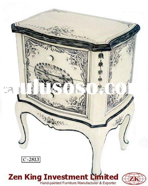 Hand Painted French Country Style Wooden Commode
