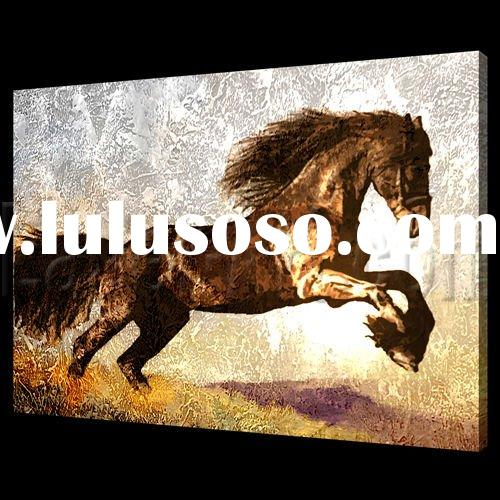Hand painted Abstract horse oil painting