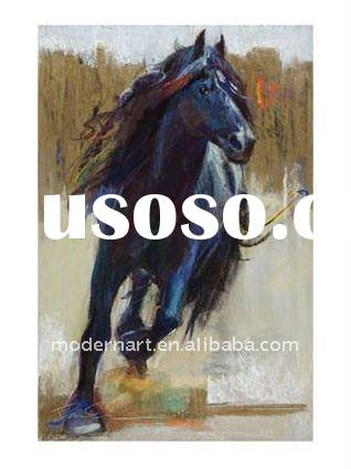 Hand painted Abstract horse oil painting FY-07873