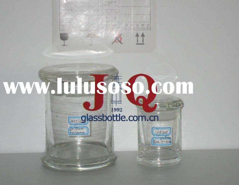 High quality Clear Glass Storage Jar with glass air-tight lid