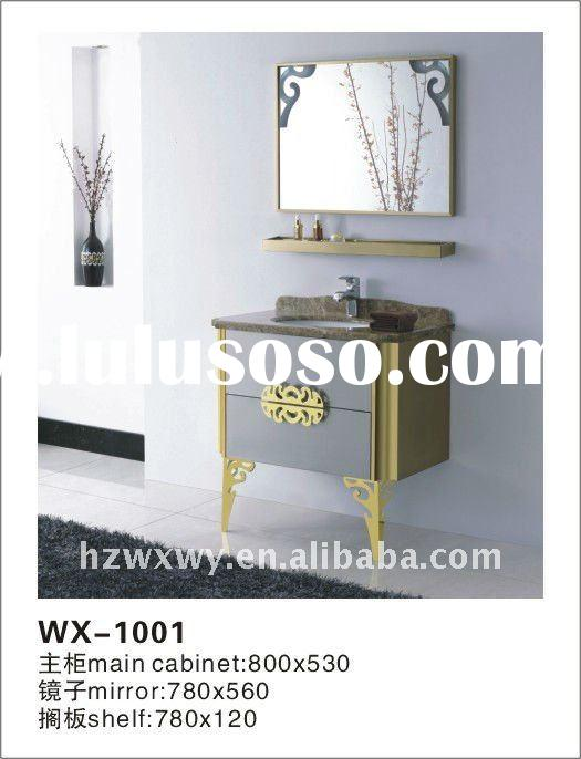 Hot sale marble top floor standing and wall hanging stainless steel cabinet