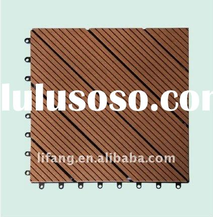 Hot sales! wood plastic composite(wpc) DIY decking or plastic lumber interlocking decking tiles hand