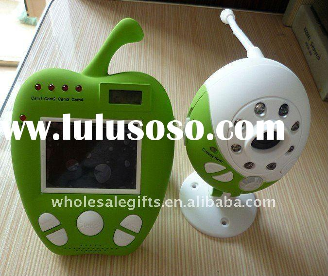 Hottest Selling Apple patternTemperature Showing Night Vision 2.4GHz Digital Wireless Baby Monitor,2