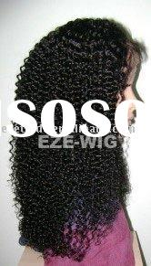 Human Hiar Kinky Curly Lace Wigs for African Americans Black Women