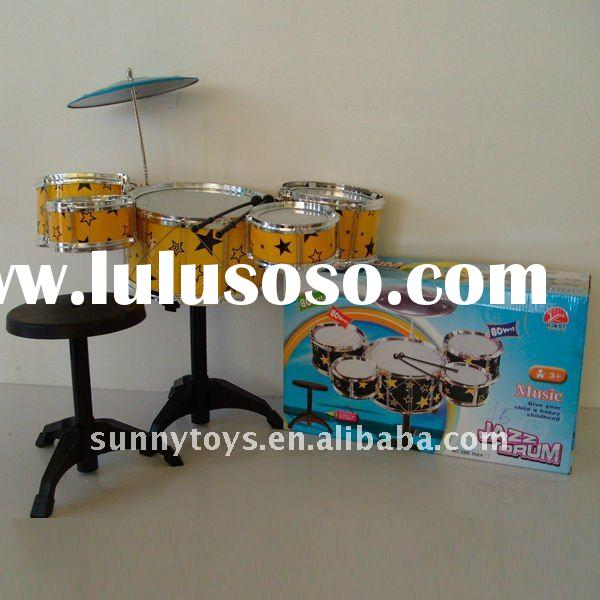 KID JAZZ DRUM SET,THREE TOMTOMS AND CHAIR