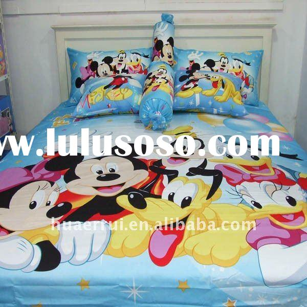 Kids' style mickey mouse printed bedding set/bed sheet