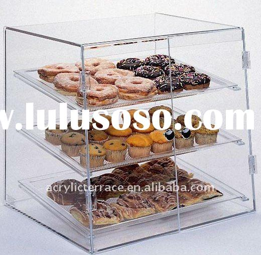 Large Acrylic Pastry Bakery Donut Display Case 3 Tier