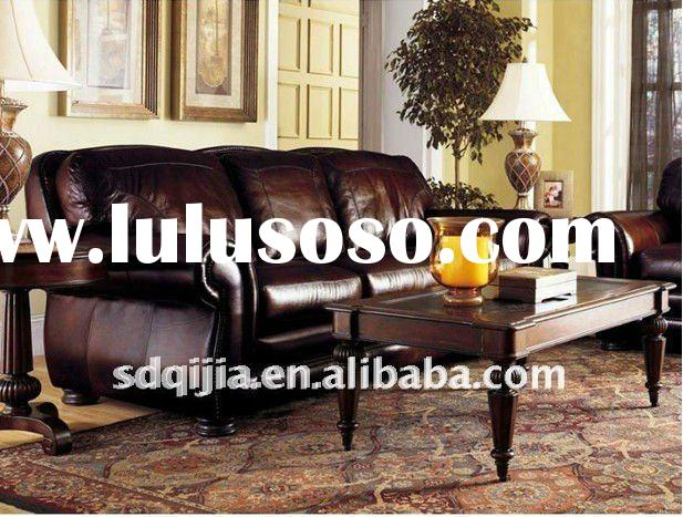 Latest 3-seat Antique Leather furniture American Style Design Sofa