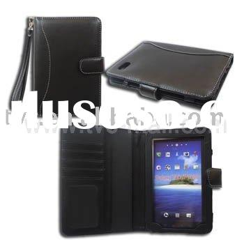 Latest Style With Special Design Wallet Pouch Leather Case for Samsung Galaxy Tab P1000 (GT-P1000)