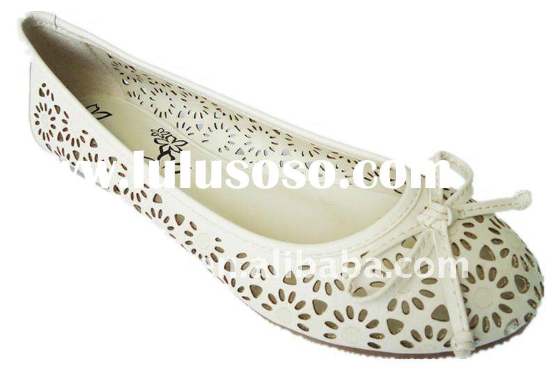 Leather Ladies flat shoe