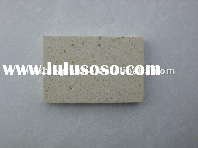 Light Beige Man Made Artificial Stone Flooring Tiles
