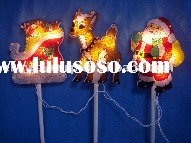 Lighted santa,deer, sleigh path markers,christmas decor