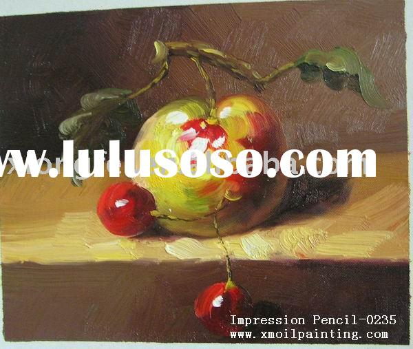Low cost scenery decoration oil painting on canvas
