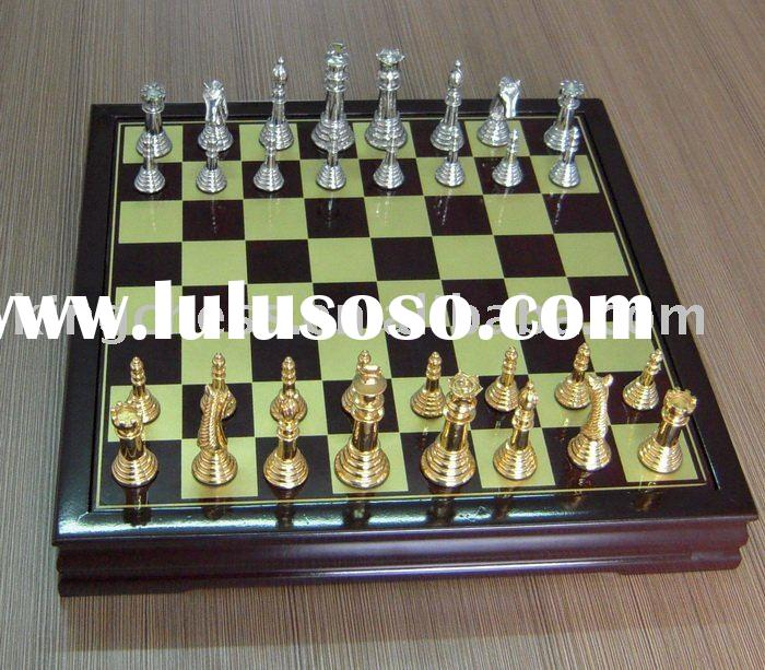 Metal chess set
